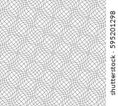 seamless pattern of wavy lines. ... | Shutterstock .eps vector #595201298