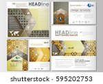 social media posts set.... | Shutterstock .eps vector #595202753