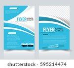 abstract flyer design... | Shutterstock .eps vector #595214474