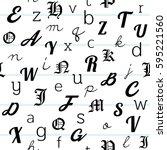 alphabet seamless pattern... | Shutterstock .eps vector #595221560