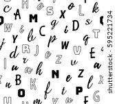 alphabet seamless pattern... | Shutterstock .eps vector #595221734