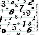 number seamless pattern...   Shutterstock .eps vector #595226708
