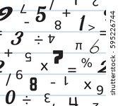 number seamless pattern... | Shutterstock .eps vector #595226744