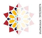 islamic greeting card. eid... | Shutterstock .eps vector #595230074