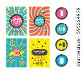 sale website banner templates.... | Shutterstock . vector #595234979