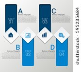 modern infographics paper... | Shutterstock .eps vector #595235684