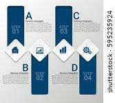 modern infographics paper... | Shutterstock .eps vector #595235924