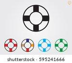 lifebuoy  icon  vector... | Shutterstock .eps vector #595241666