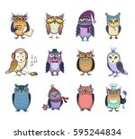 beautiful vector set of twelve... | Shutterstock .eps vector #595244834