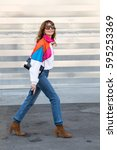 milan  italy   february 25 ...   Shutterstock . vector #595253369