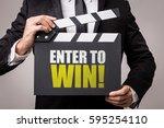 enter to win | Shutterstock . vector #595254110