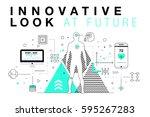 trendy innovation systems... | Shutterstock .eps vector #595267283