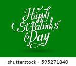 happy st. patrick's vector... | Shutterstock .eps vector #595271840