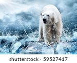 white polar bear hunter on the... | Shutterstock . vector #59527417
