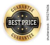 black best price button   badge ... | Shutterstock .eps vector #595274636