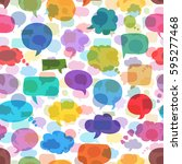 seamless pattern of bubbles... | Shutterstock .eps vector #595277468