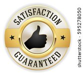 gold satisfaction guaranteed... | Shutterstock .eps vector #595278050