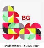 vector modern elegant circle... | Shutterstock .eps vector #595284584