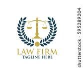law firm  finance agency logo   Shutterstock .eps vector #595289204