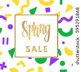 season spring sale banner for... | Shutterstock .eps vector #595291868