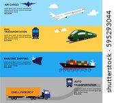 global logistics network...   Shutterstock .eps vector #595293044