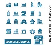 business buildings icons | Shutterstock .eps vector #595298909