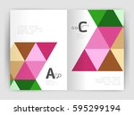 modern business brochure or... | Shutterstock .eps vector #595299194