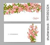 flowers bouquet   summer... | Shutterstock .eps vector #595301324