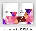 modern business brochure or... | Shutterstock .eps vector #595302104