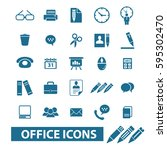 office icons | Shutterstock .eps vector #595302470