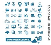 computer network icons | Shutterstock .eps vector #595304738