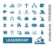 leader team icons   Shutterstock .eps vector #595304828
