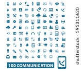 communication icons  | Shutterstock .eps vector #595311620