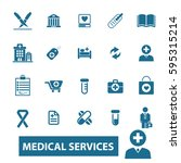 medical services icons  | Shutterstock .eps vector #595315214