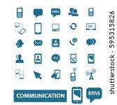 communication icons  | Shutterstock .eps vector #595315826