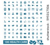 health care icons | Shutterstock .eps vector #595317506