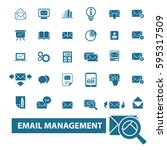 email management icons | Shutterstock .eps vector #595317509