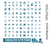 health system icons | Shutterstock .eps vector #595317524