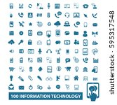 information technology icons | Shutterstock .eps vector #595317548