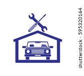 car in the garage icon ... | Shutterstock .eps vector #595320164
