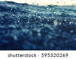 Sea Wave Close Up At Sunset In...