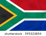 south africa waving flag. south ... | Shutterstock .eps vector #595323854