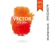 watercolor stains  texture.... | Shutterstock .eps vector #595324079