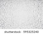 white abstract image of cubes... | Shutterstock . vector #595325240