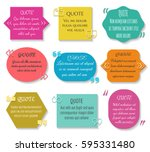 text quotes box set. vector... | Shutterstock .eps vector #595331480