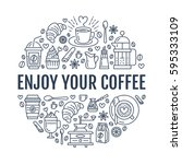 coffee making poster template.... | Shutterstock .eps vector #595333109