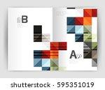 vector square leaflet  business ... | Shutterstock .eps vector #595351019