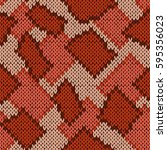 knitting seamless scrappy... | Shutterstock . vector #595356023