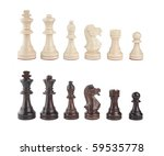 A Set Of Black And White Chess...