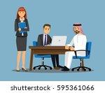 business people teamwork ... | Shutterstock .eps vector #595361066